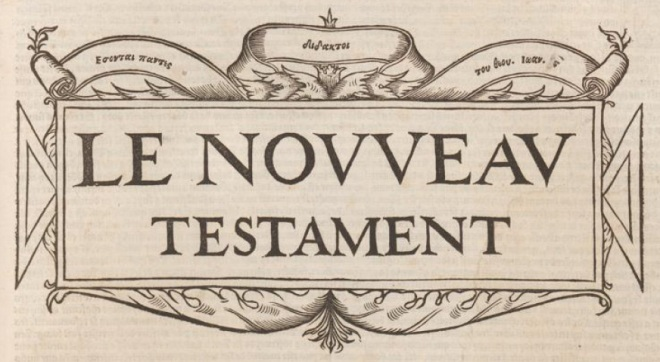 olivetan - new testament design (1535)